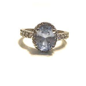 QVC Diamoneque light blue ring. Size 5 💙